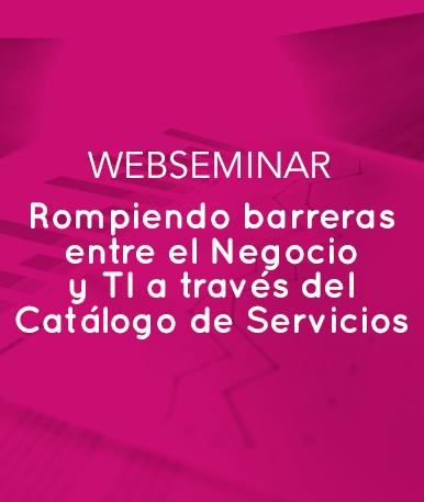 Web Seminar: Rompiendo barreras entre el Negocio y TI a través del Catálogo de Servicios