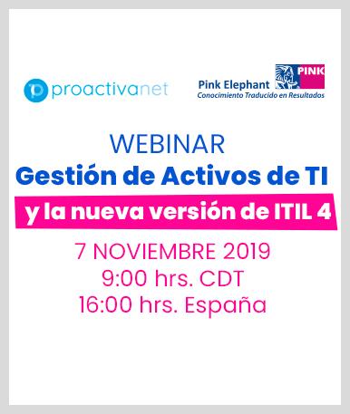 Web Seminar: Gestión de Activos de TI y la nueva versión de ITIL 4