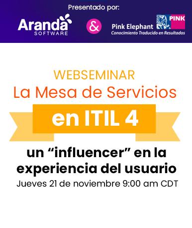 """Web Seminar: La Mesa de Servicios en ITIL 4 – un """"influencer"""" en la experiencia del usuario"""