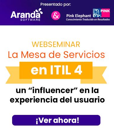 """Video Webinar: La Mesa de Servicios en ITIL 4 – un """"influencer"""" en la experiencia del usuario"""