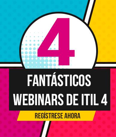 4 fantásticos webinars de ITIL4